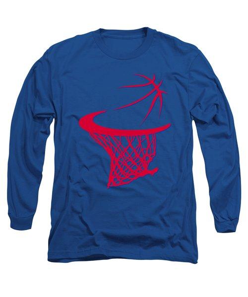 Clippers Basketball Hoop Long Sleeve T-Shirt by Joe Hamilton