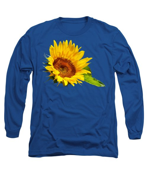 Color Me Happy Sunflower Long Sleeve T-Shirt by Christina Rollo
