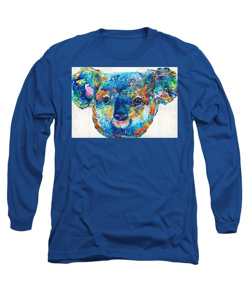 Colorful Koala Bear Art By Sharon Cummings Long Sleeve T-Shirt by Sharon Cummings
