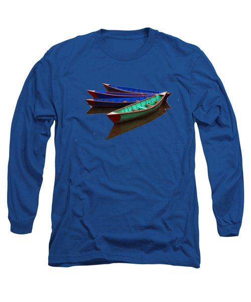 Colourful Fishing Boats  Long Sleeve T-Shirt by Aidan Moran