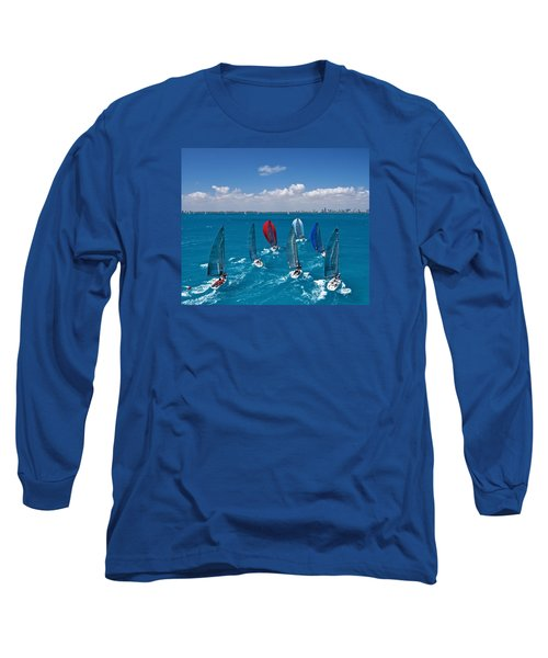 Downwind To Miami Long Sleeve T-Shirt by Steven Lapkin