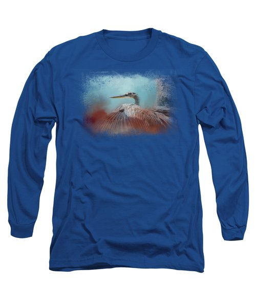 Emerging Heron Long Sleeve T-Shirt by Jai Johnson