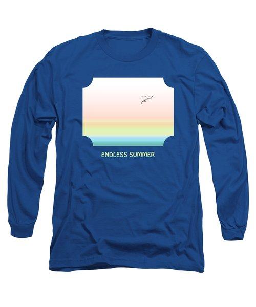 Endless Summer - Blue Long Sleeve T-Shirt by Gill Billington