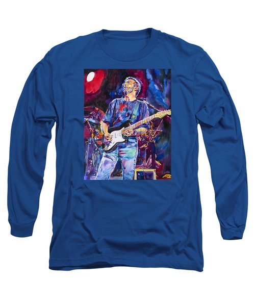 Eric Clapton And Blackie Long Sleeve T-Shirt by David Lloyd Glover