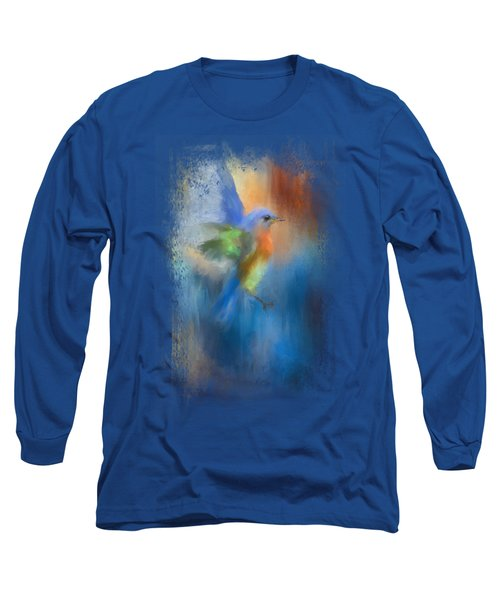 Flight Of Fancy Long Sleeve T-Shirt by Jai Johnson
