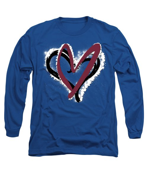 Hearts Graphic 6 Long Sleeve T-Shirt by Melissa Smith
