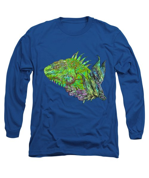 Iguana Cool Long Sleeve T-Shirt by Carol Cavalaris