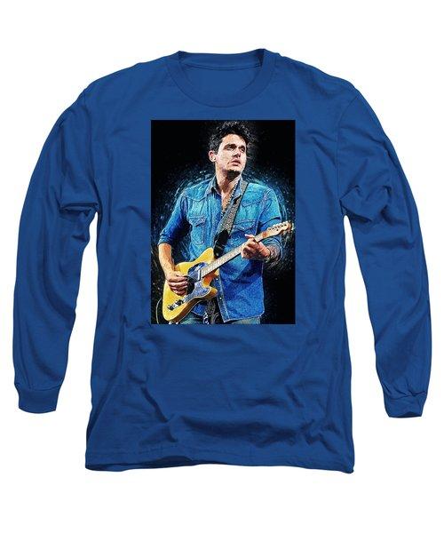 John Mayer Long Sleeve T-Shirt by Taylan Apukovska