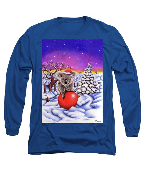 Koala On Christmas Ball Long Sleeve T-Shirt by Remrov