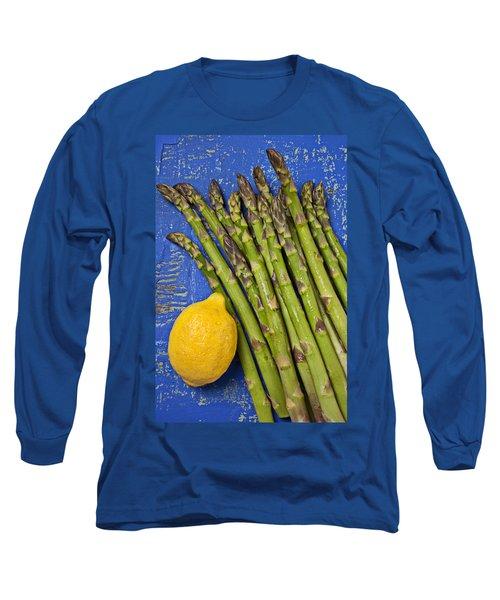 Lemon And Asparagus  Long Sleeve T-Shirt by Garry Gay
