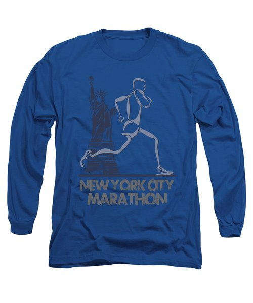 New York City Marathon3 Long Sleeve T-Shirt by Joe Hamilton