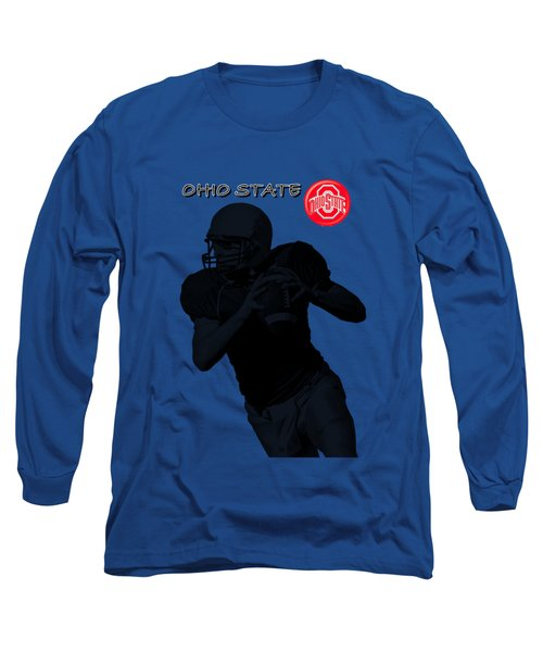 Ohio State Football Long Sleeve T-Shirt by David Dehner