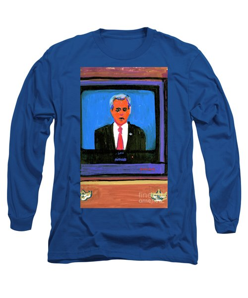 President George Bush Debate 2004 Long Sleeve T-Shirt by Candace Lovely