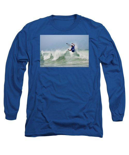 Long Sleeve T-Shirt featuring the photograph Quiksilver Pro France I by Thierry Bouriat