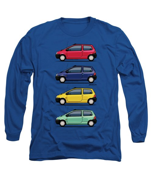 Renault Twingo 90s Colors Quartet Long Sleeve T-Shirt by Monkey Crisis On Mars