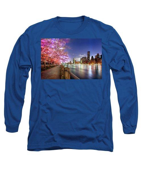 Romantic Blooms Long Sleeve T-Shirt by Az Jackson