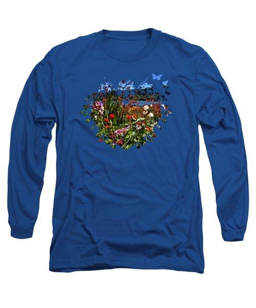 Siuslaw River Floral Long Sleeve T-Shirt by Thom Zehrfeld