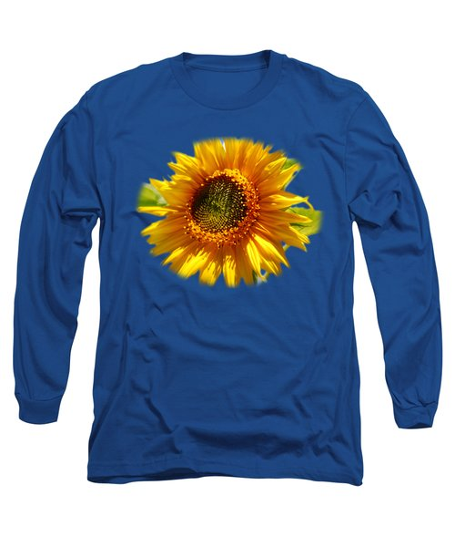 Sunny Sunflower Square Long Sleeve T-Shirt by Christina Rollo