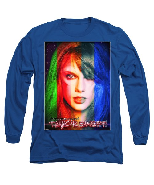 Taylor Swift - Sparks Alt Version Long Sleeve T-Shirt by Robert Radmore