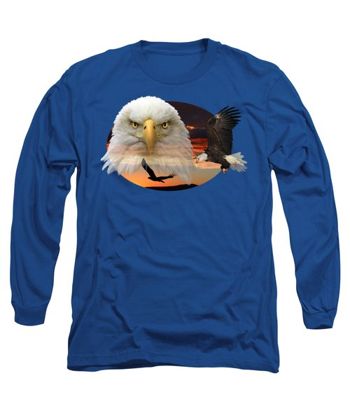 The Bald Eagle 2 Long Sleeve T-Shirt by Shane Bechler