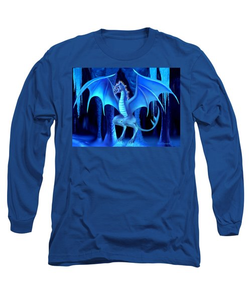 The Blue Ice Dragon Long Sleeve T-Shirt by Glenn Holbrook