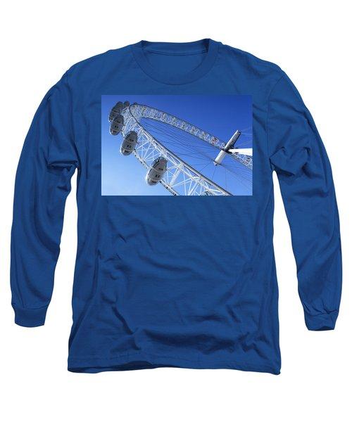 The London Eye, Close-up Long Sleeve T-Shirt by Simon Kayne