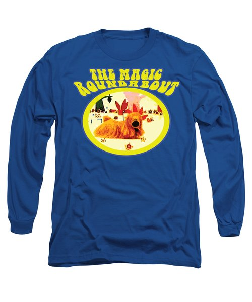 The Magic Roundabout Retro Design Hippy Design 60s And 70s Long Sleeve T-Shirt by Paul Telling