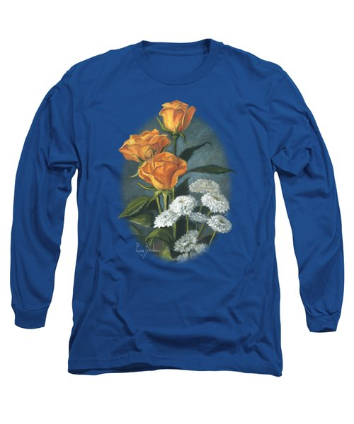 Three Roses Long Sleeve T-Shirt by Lucie Bilodeau