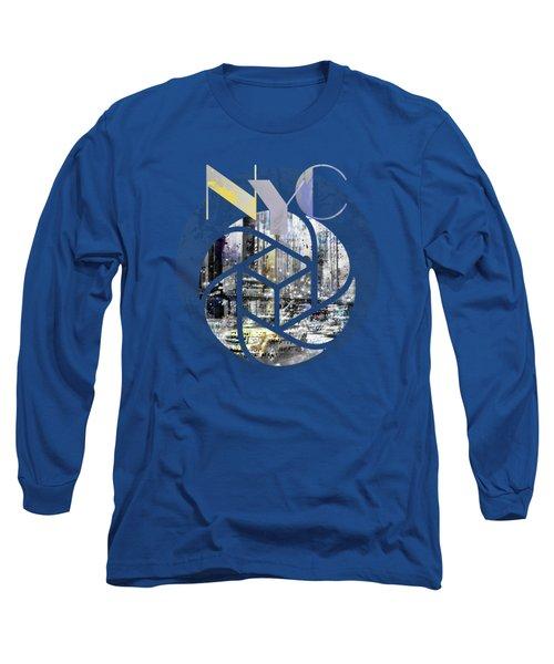 Trendy Design New York City Geometric Mix No 4 Long Sleeve T-Shirt by Melanie Viola