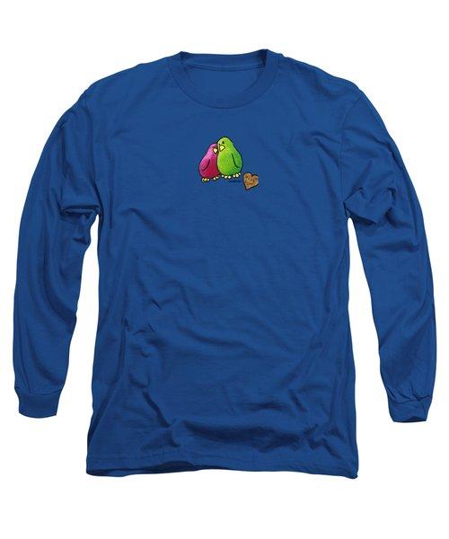 True Love Heart Long Sleeve T-Shirt by LimbBirds Whimsical Birds