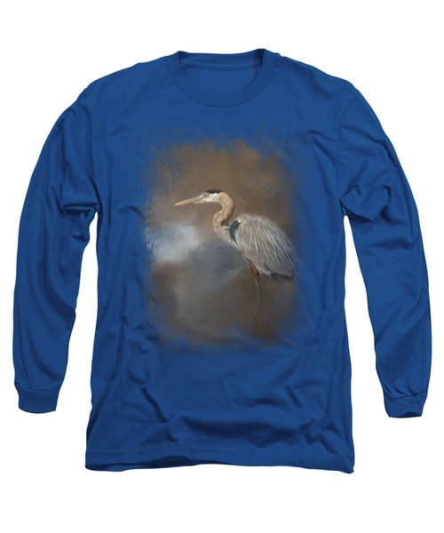 Walking Into Blue Long Sleeve T-Shirt by Jai Johnson