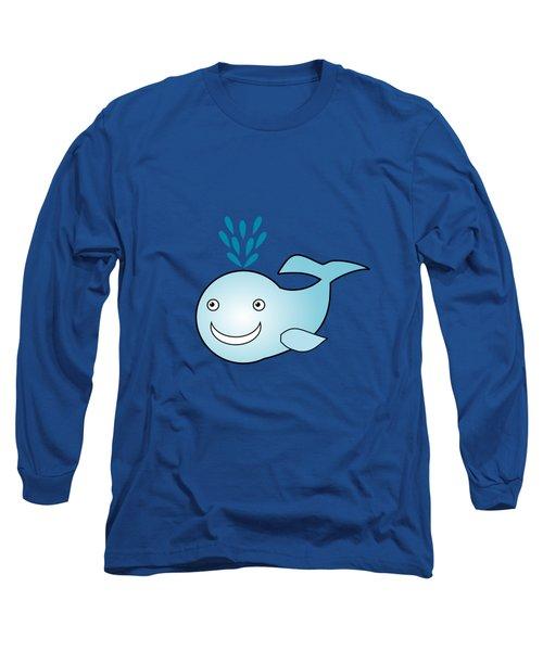 Whale - Animals - Art For Kids Long Sleeve T-Shirt by Anastasiya Malakhova