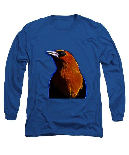 Yellow Headed Blackbird Long Sleeve T-Shirt by Shane Bechler