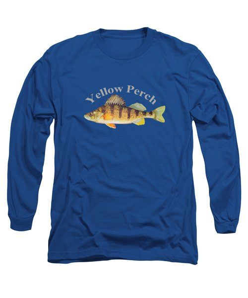 Yellow Perch Fish By Dehner Long Sleeve T-Shirt by T Shirts R Us -