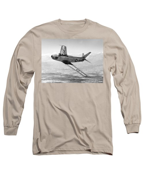 Long Sleeve T-Shirt featuring the photograph F-86 Sabre, First Swept-wing Fighter by Science Source