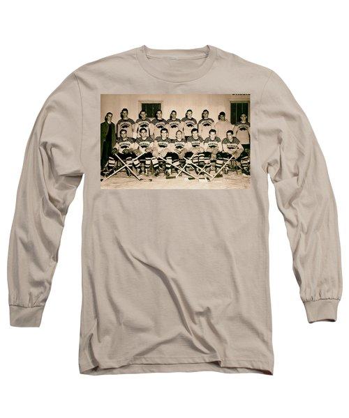 University Of Michigan Hockey Team 1947 Long Sleeve T-Shirt by Mountain Dreams