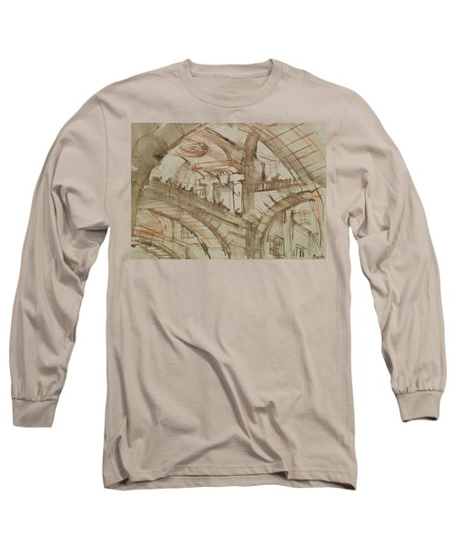 Drawing Of An Imaginary Prison Long Sleeve T-Shirt by Giovanni Battista Piranesi