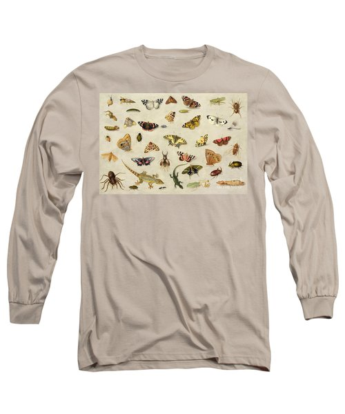 A Study Of Insects Long Sleeve T-Shirt by Jan Van Kessel