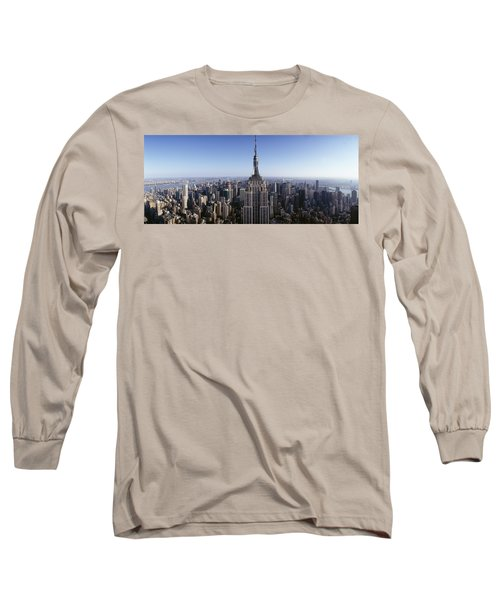 Aerial View Of A Cityscape, Empire Long Sleeve T-Shirt by Panoramic Images