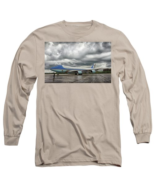 Air Force One Long Sleeve T-Shirt by Mountain Dreams