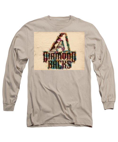Arizona Diamondbacks Poster Vintage Long Sleeve T-Shirt by Florian Rodarte