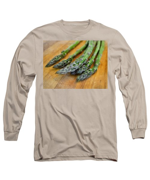 Asparagus Long Sleeve T-Shirt by Michelle Calkins
