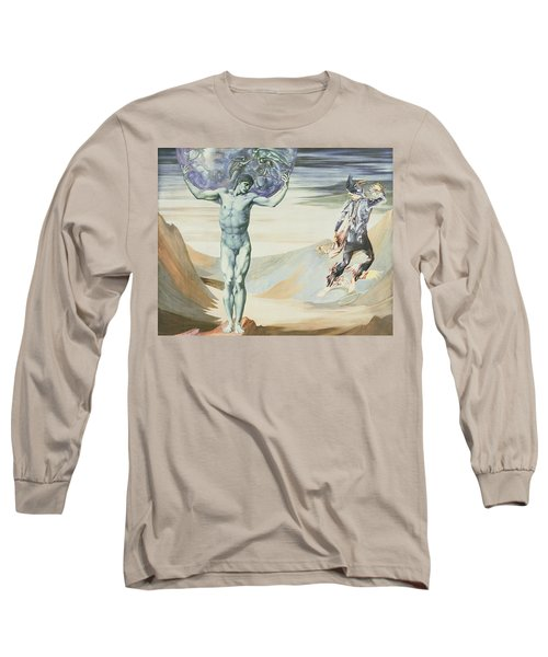 Atlas Turned To Stone, C.1876 Long Sleeve T-Shirt by Sir Edward Coley Burne-Jones