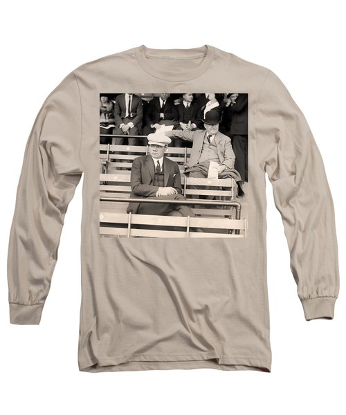 Babe Ruth In The Stands At Griffith Stadium 1922 Long Sleeve T-Shirt by Mountain Dreams