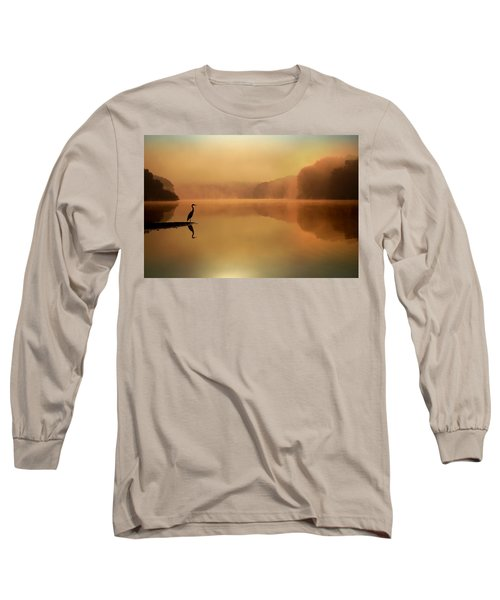 Beside Still Waters Long Sleeve T-Shirt by Rob Blair