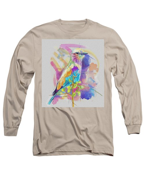 Bird On A Twig Long Sleeve T-Shirt by Catf