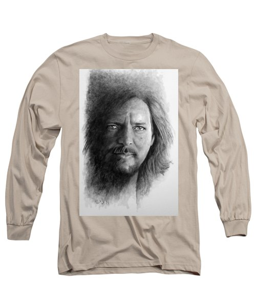 Black And White Vedder Long Sleeve T-Shirt by William Walts