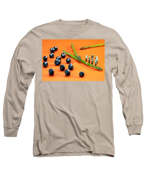 Blueberry Protesting Long Sleeve T-Shirt by Paul Ge