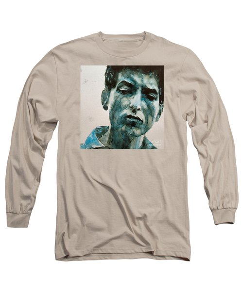 Bob Dylan Long Sleeve T-Shirt by Paul Lovering