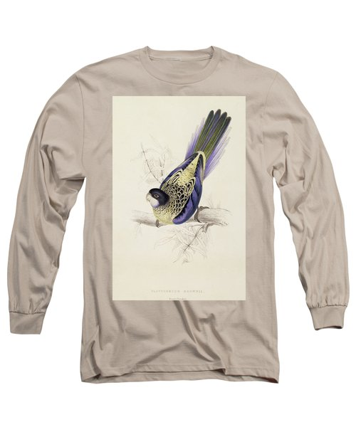 Browns Parakeet Long Sleeve T-Shirt by Edward Lear